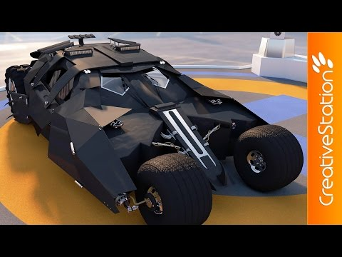 Batman Car  - 3D Speed art modelling (#Cinema4D) | CreativeStation