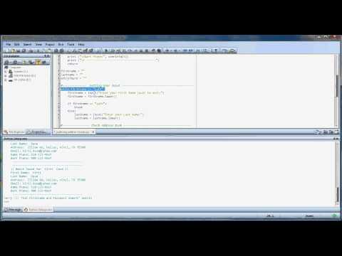 Python programming - Searchable address book