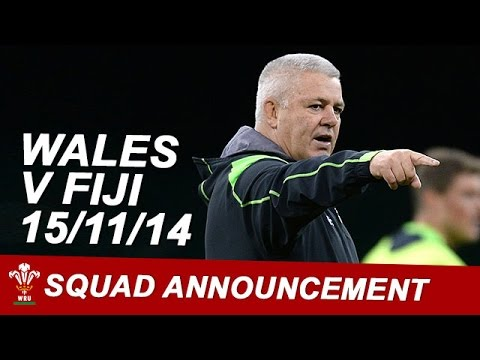 Warren Gatland #WALvFIJI team announcement | WRU TV