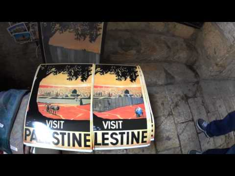 Visit Palestine - The Zionist poster of Franz Krausz from 1936 with the change of the Palestinians