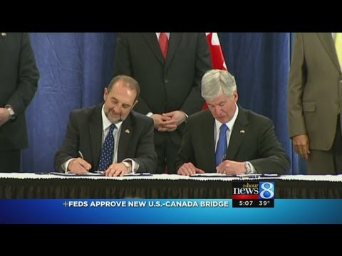 Second bridge between Detroit and Windsor, Ontario one step closer to reality