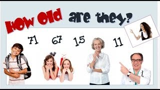 Talking about age -verb to be -English Language