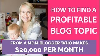 How to Find a Profitable Blog Niche and Topic