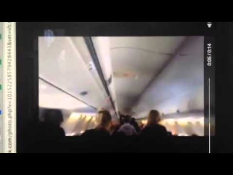 Intervention policière dans l'avion de Sunwing klip izle