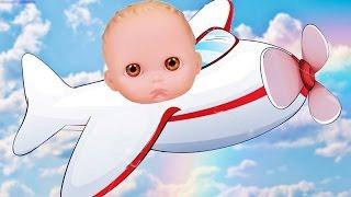 Куклы Пупсик Летит на самолете Кушает Едет в отпуск на Море #2 Игры Игрушки для девочек Зырики ТВ
