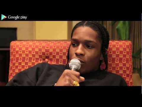 "A$AP Rocky Interview With Google Play! Speaks On Blowing Up Off The Internet, Inspirations Behind ""Wassup"" Music Video, Having Creative Control & More"