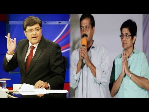 The Newshour Debate: Arvind Kejriwal Trolls Kiran Bedi - Full Debate (21st Jan 2015)