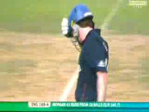 Unbelieveable shot by Eoin Morgan
