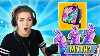 I FOUND 3 LLAMAS IN THE SAME GAME! BRITE BAG MYTH BUSTED?! (Fortnite: Battle Royale)   KittyPlays