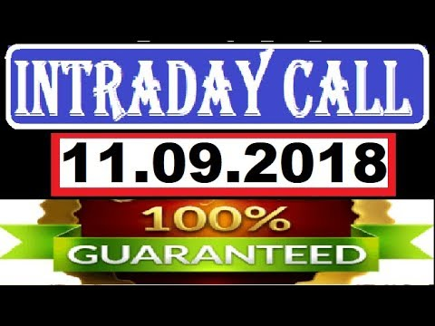 IntraDay Top 5 Jackpot Call  11.09.2018  || today stock || intraday || best stock for 2018
