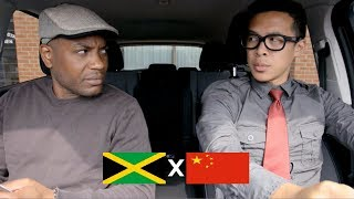 Jamaican gives funny chinese man a driving exam