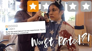 GETTING A HAIRCUT AT THE WORST RATED HAIR SALON IN MY CITY (1 STAR ON YELP) // ELLEKAE