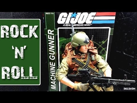Sideshow GI joe ROCK N ROLL Machine Gunner - Review / DiegoHDM