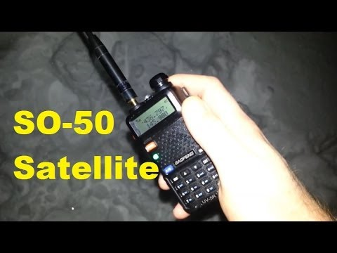 SO-50 Amateur Radio Satellite with Baofeng UV-5R Jan 2014