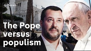 Migration battle sees Pope pitted against Italy's most powerful politician