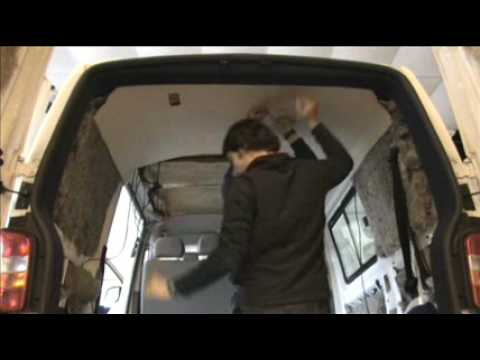 Amdro Angel Vw T5 Upholstering Ceiling Youtube