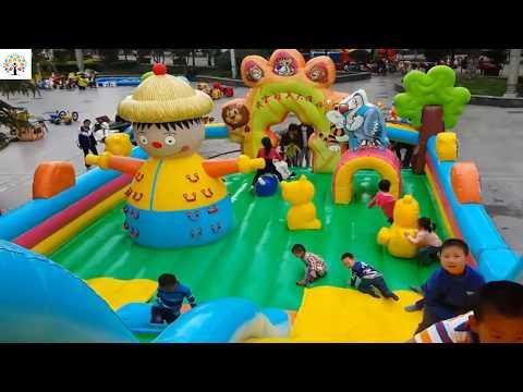 Playground fun video for kids Indoor Playground slides in children