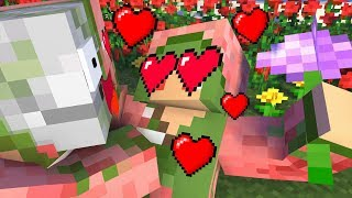 Monster School : Valentine's Day GIRL AND BOY - Minecraft Animation