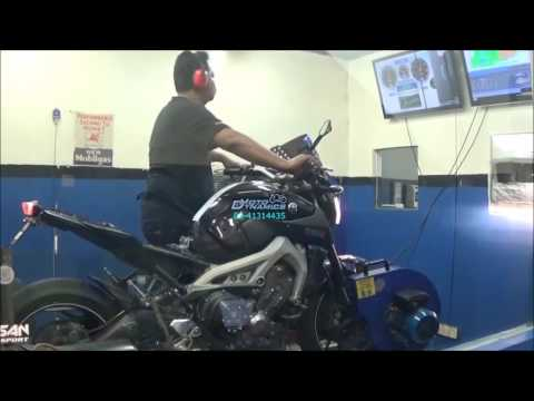 Yamaha MT09 Bazzaz ZFI Dyno Tuning - Motodynamics Technology Malaysia