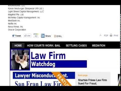 Shartsis Friese Client Lawsuit | Bay Area Legal News