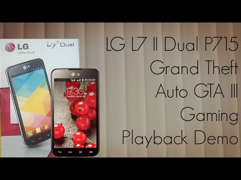 LG L7 II Dual P715 Grand Theft Auto GTA III Gaming Playback Demo