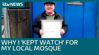 Message of kindness outside Manchester Mosque seen around the world | ITV News