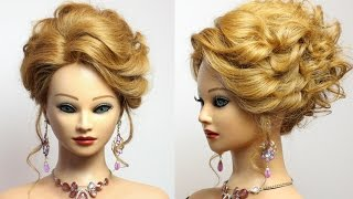 Hairstyle for long medium hair tutorial.  Prom updo.