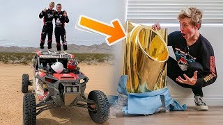 I Spent 7 hours in a racecar for a SOLID 24K GOLD TOILET