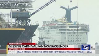 VIDEO: Passenger missing from Mobile-based Carnival Fantasy