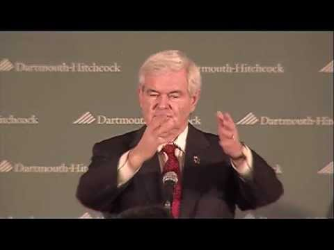 Former Speaker of the House Newt Gingrich at Dartmouth-Hitchcock