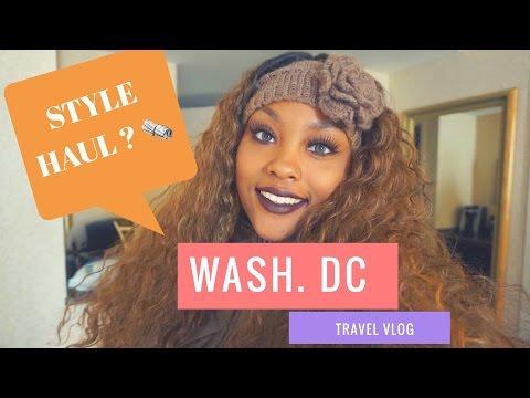 WASHINGTON D.C. TOUR + STYLE HAUL NEWS   @MEEKFRO TRAVEL VLOG
