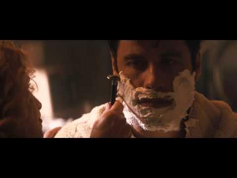 John Travolta shaved (safety razor) in 1996 movie Phenomenon