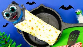 What is inside the Puppy Dog Pals Spooky Burrito with PJ Masks