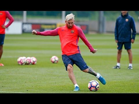Luis Suárez se comió un caño de Messi