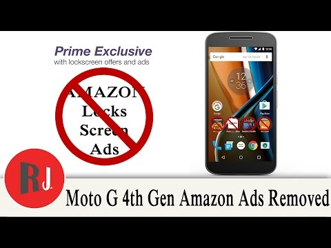 Amazon Ads & Bloat Removed from the Motorola Moto G 4th gen with one quick flash