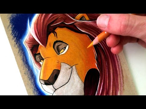 Drawing Mufasa from The Lion King - FAN ART FRIDAY