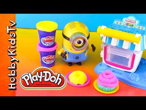 PLAY-DOH Double Desserts. Sweet Shoppe. Minion Stuart. Batman. FIRE! Toy Review