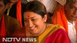 'Bharat Mata Ki Jai' doesn't make me saffron demon: Smriti Irani to NDTV