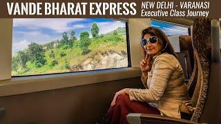 Vande Bharat Express India's Fastest Full Journey | First Inaugural Run Delhi -Varanasi | T18  Vlog