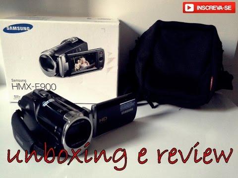 Unboxing da Filmadora Samsung HMX-F900