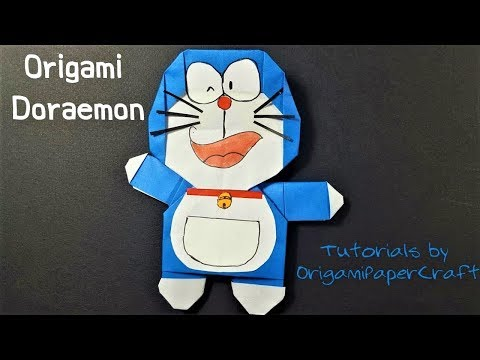 How To Make An Origami DIY  DORAEMON 🔵 Tutorial By OrigamiPaperCraft
