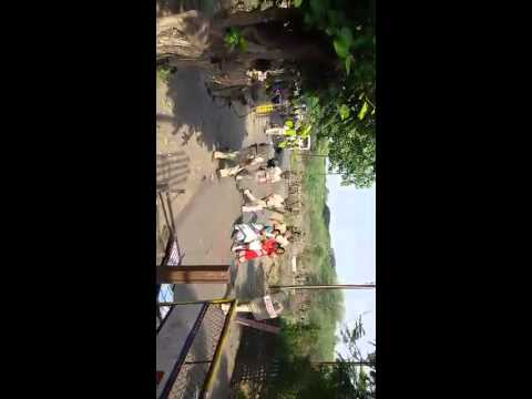 Stone pelting & Lathi charge at Bopkhel
