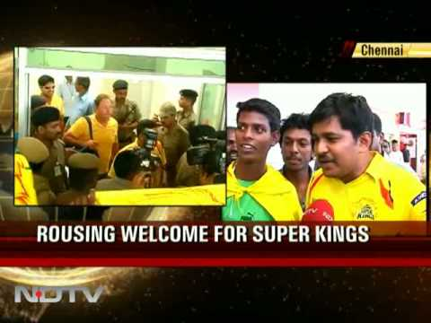 Rousing welcome for Chennai Super Kings