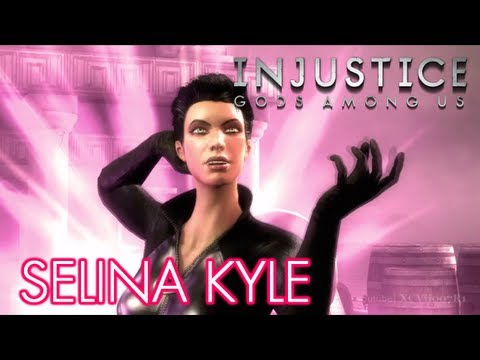 INJUSTICE: GODS AMONG US - SELINA KYLE GAMEPLAY (Bad Girls DLC Skins Pack) [HD] + 3D Model