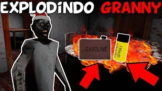 EXPLODINDO A GRANNY COM SPRAY E GASOLINA - Granny - 1.6 - (JOGO TERROR ESTILO EVIL NUN)
