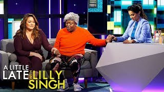 Katy Mixon, Tituss Burgess and Lilly Say a Treadmill Prayer