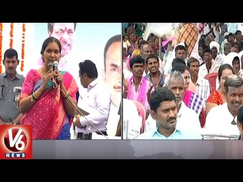 TRS Ministers & Deputy Speaker Participate In Rythu Bandhu Cheques Distribution Program In Medak |V6