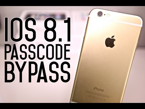 How To Bypass iOS 8.1 Passcode Settings - iPhone, iPad & iPod