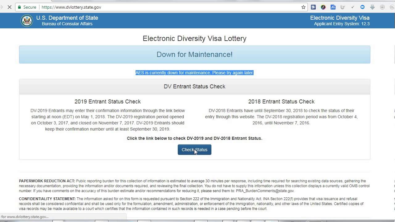 Electronic diversity visa lottery photo DV Lottery 2019 - DV 2019