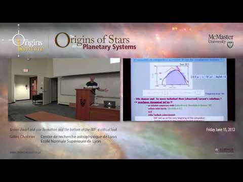 Gilles Chabrier -- Brown dwarf and star formation and the bottom of the IMF: a critical look